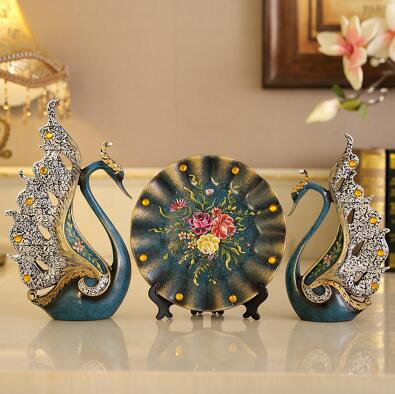 Modern Creative Swan Resin Crafts For Home Decor Ornament