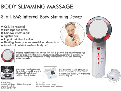 Body Slimming Massager with Infrared Ultrasonic Wave Therapy