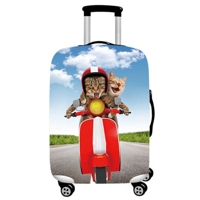 Cat 3D Travel Luggage Cover Protector with 18-32 Inch Elastic Suitcase Cover