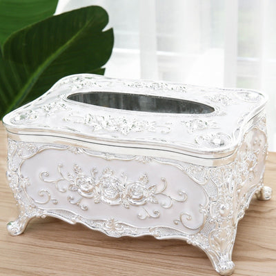Tissue Box with Acrylic Luxury European Style For Home Decor