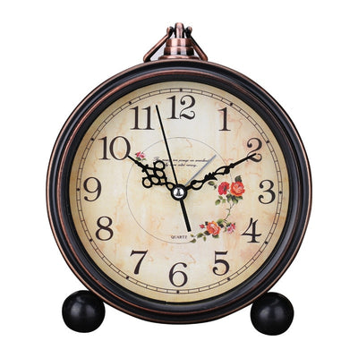 Retro American Alarm Clock For Home Decor with 4 inch Desk Clock