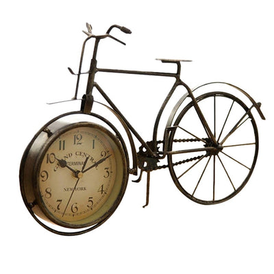Desk Clock with Vintage Iron Bicycle Style