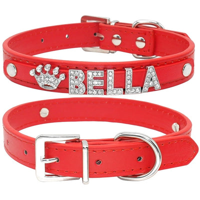 Personalized Cat Collar and Dog Collar with Name Charms Accessories
