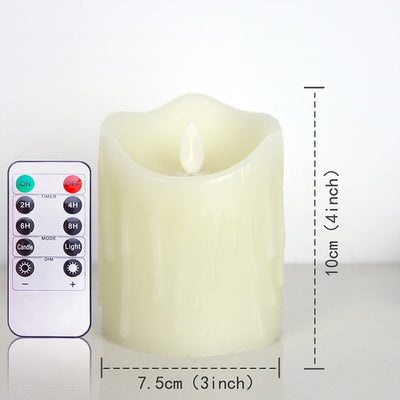 Ivory LED Candles with Remote Control for Home Decoration