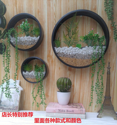 Creative Wall Vase  with Iron Art for Home Decoration