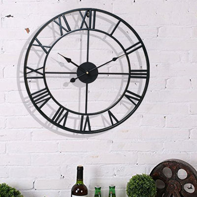 3D Wall Clock with Roman Numeral Silent  For Home Decor