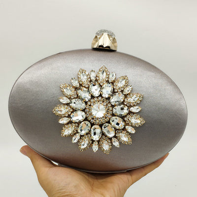 Boutique Flower Crystal Clutches for Evening Bags and Clutch Bag