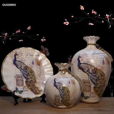 European Ceramic Vase Ornaments for Home Decor