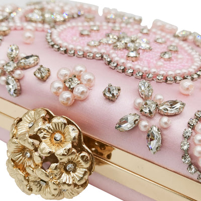 Boutique Crystal Vintage Pink Clutches for Evening Bags and Clutch bag
