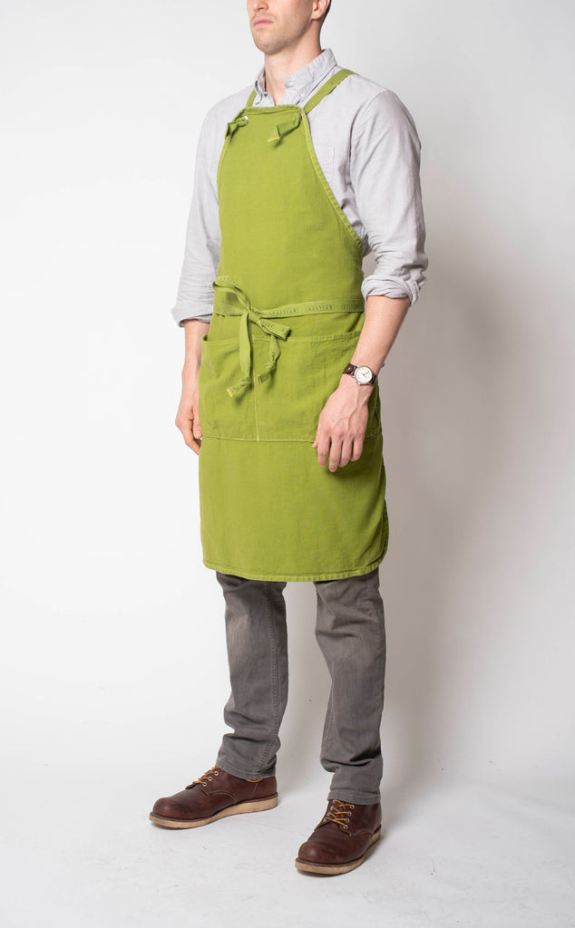 Full Apron - leaf green