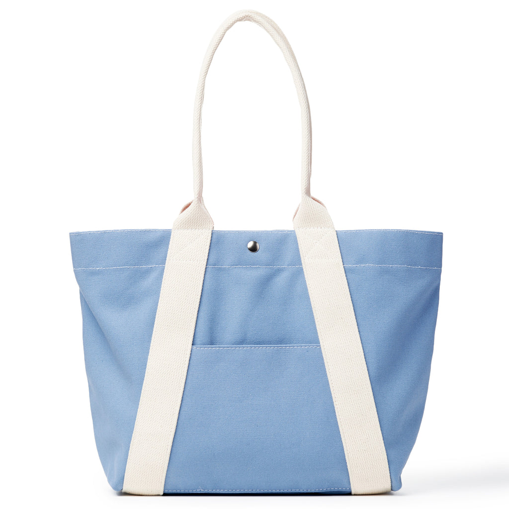 a-frame tote - light blue/natural