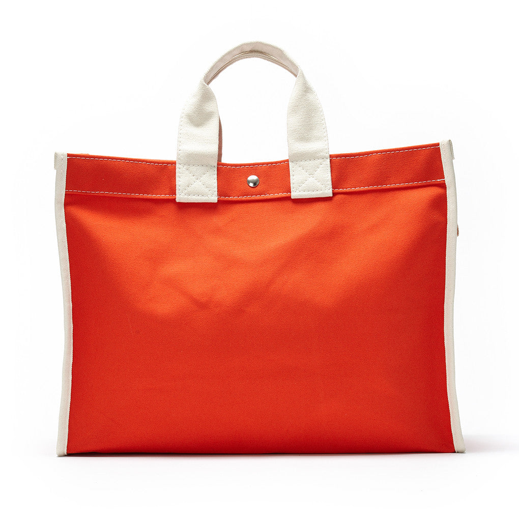classic field bag - orange/natural