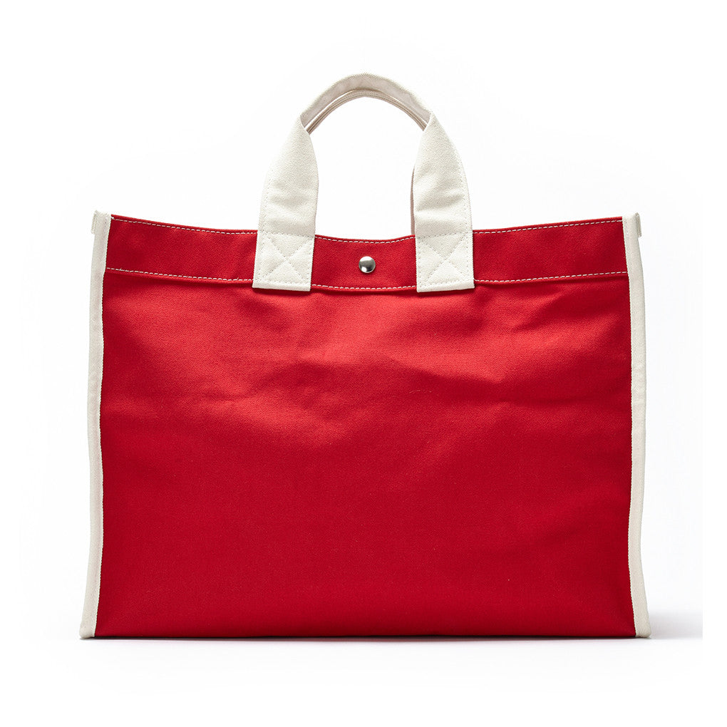 classic field bag - red/natural