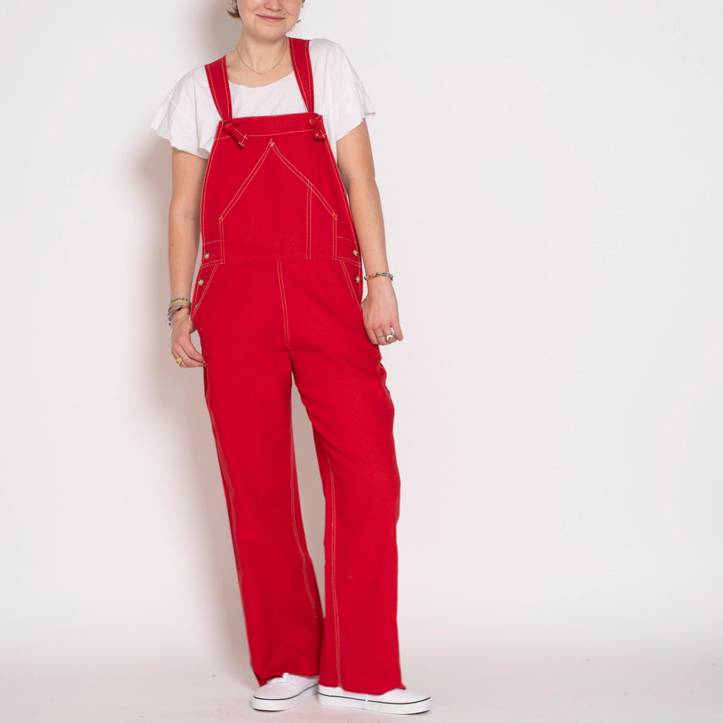 overalls - red