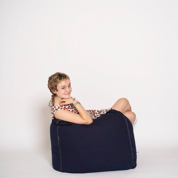 bean bag chair navy