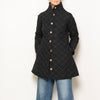 quilted car coat - black