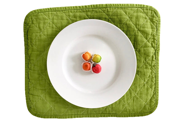 Quilted Placemat - leaf green