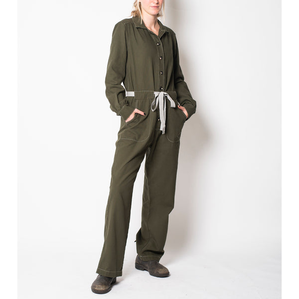 long sleeve jumpsuit - olive