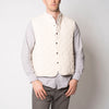 quilted snap vest- natural