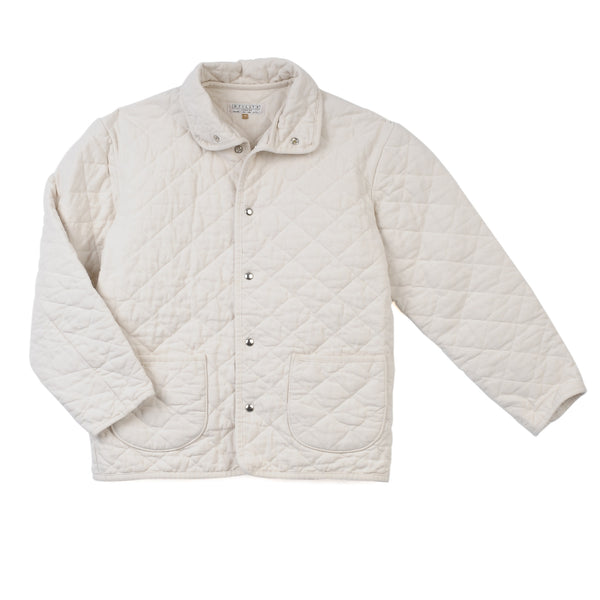 mens quilted snap jacket - natural