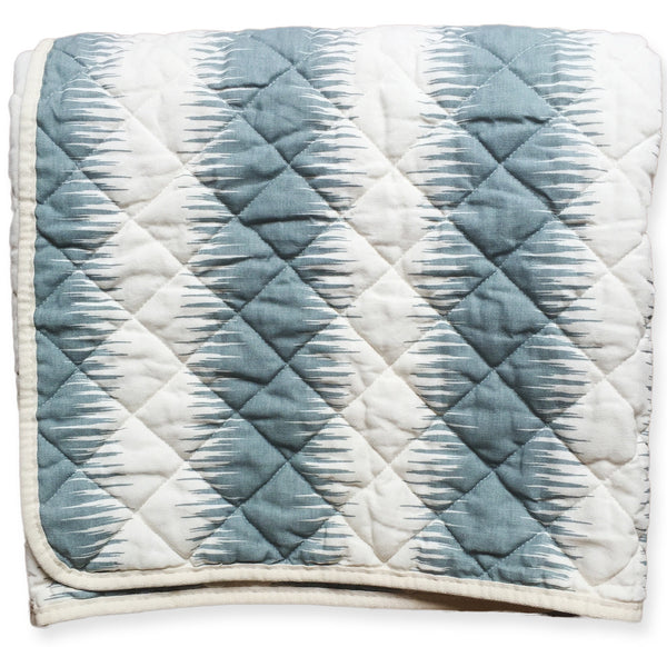 Quilted Throw - navajo grey