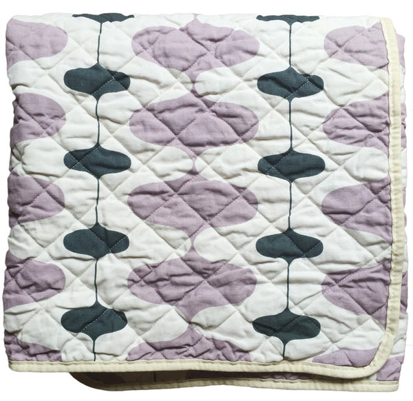 Quilted Throw - lavender wobble
