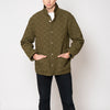 quilted snap jacket - olive