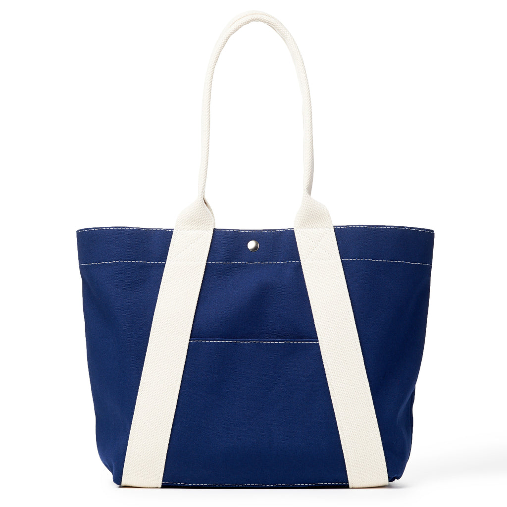 a-frame tote - navy/natural