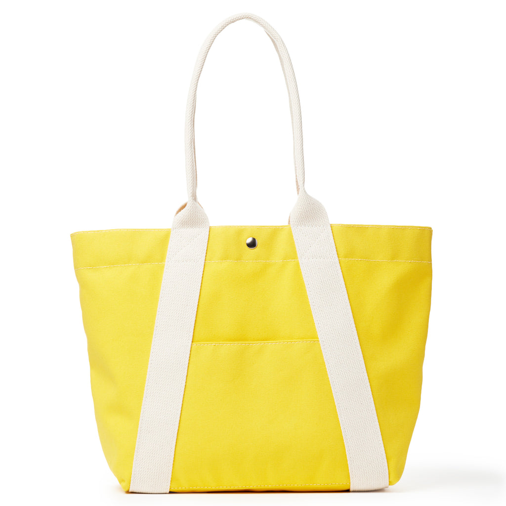 a-frame tote - yellow/natural