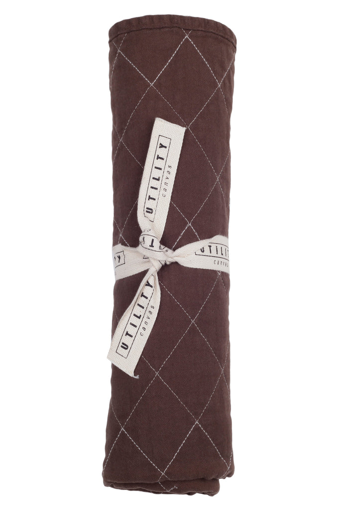 Quilted Floor Mat - chocolate
