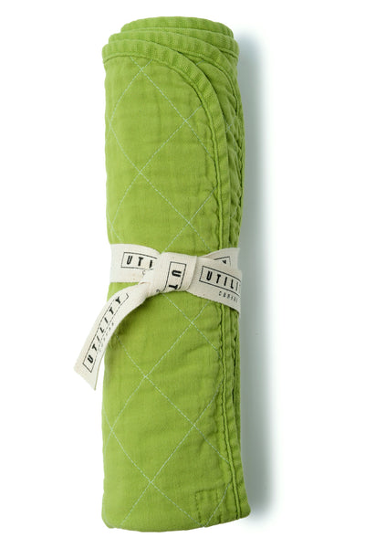 Quilted Floor Mat - leaf green