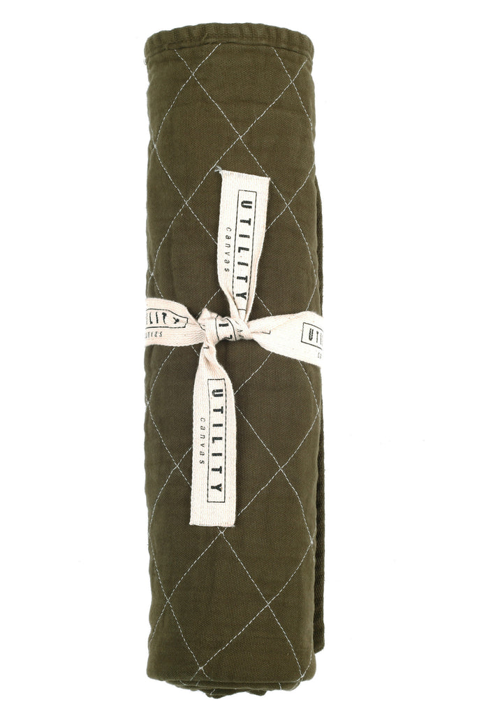 Quilted Floor Mat - olive