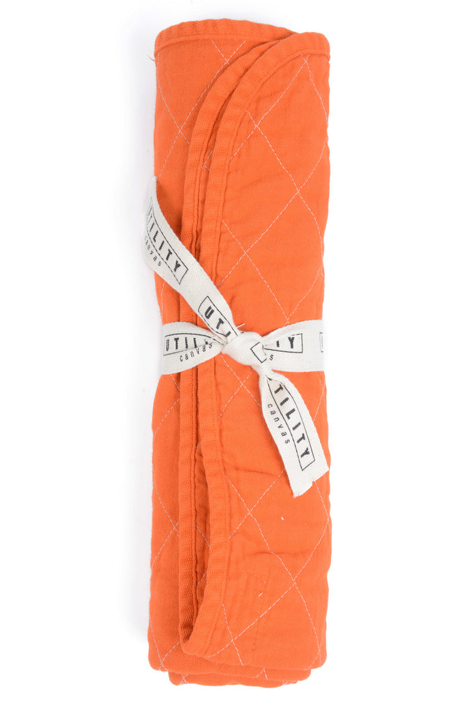 quilted floor mat - orange
