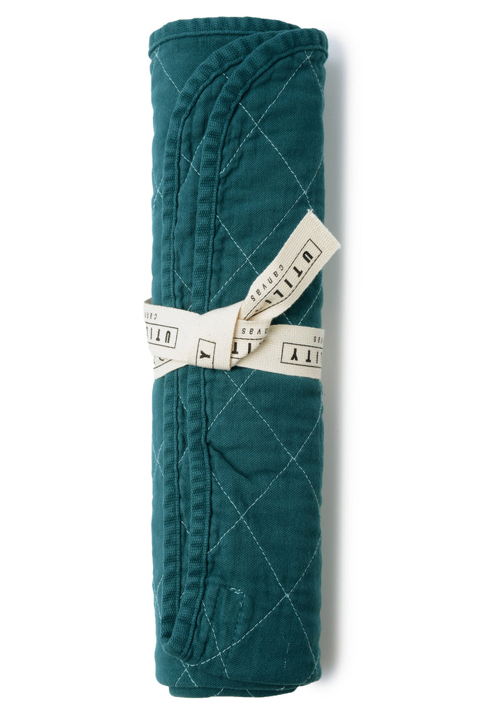 Quilted Floor Mat - teal
