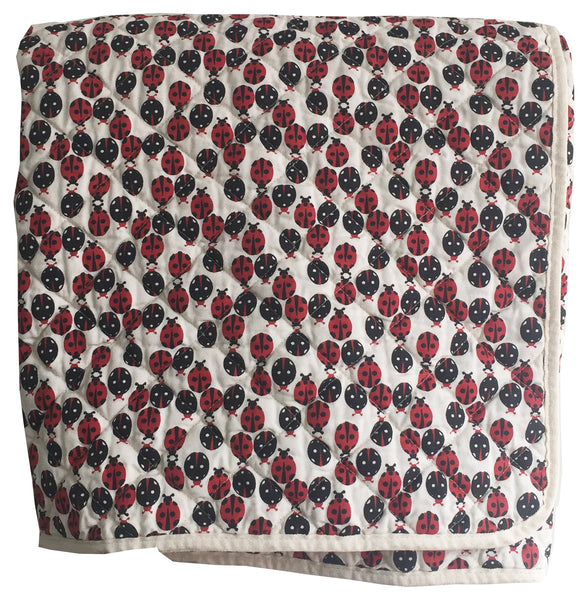 Quilted Throw - ladybug