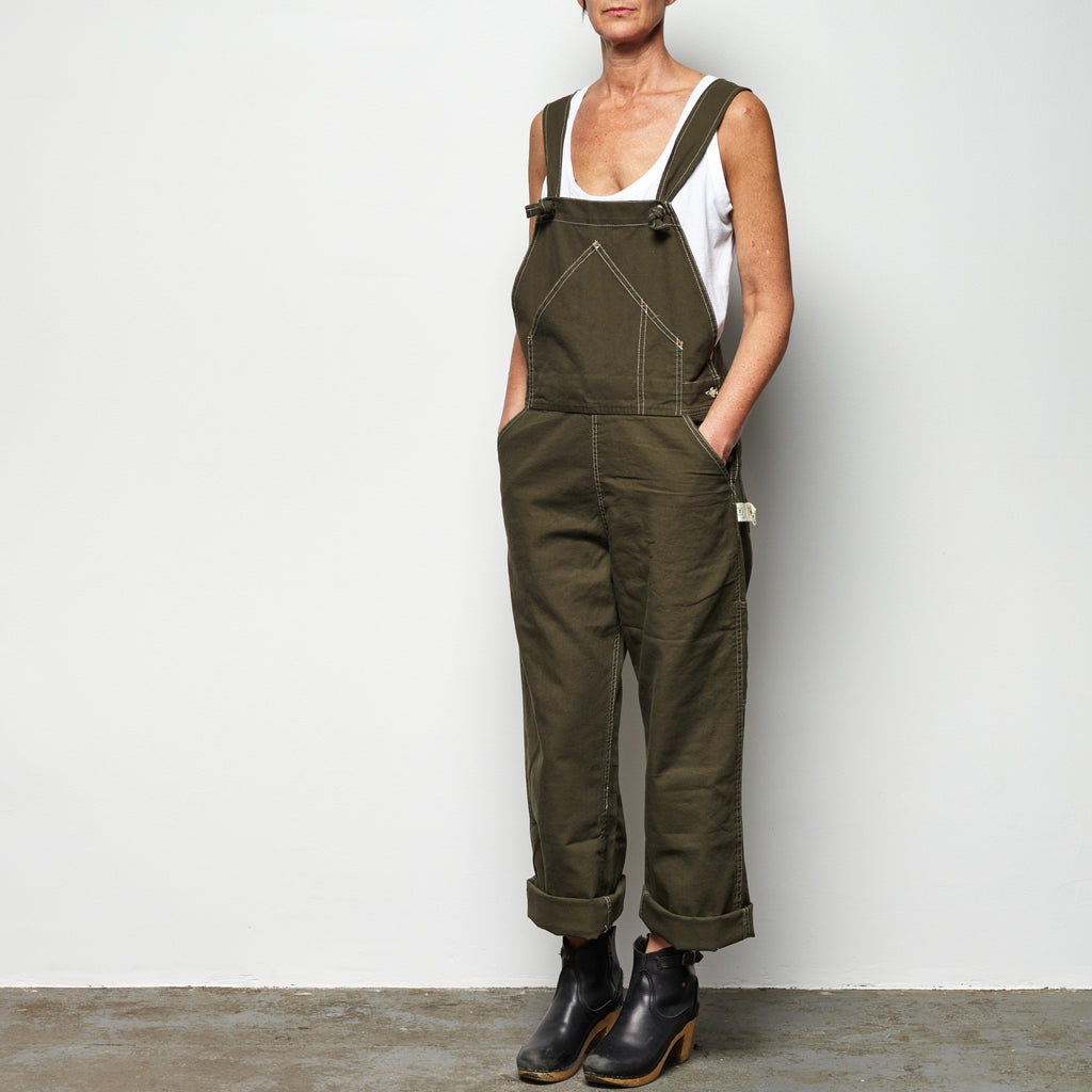 Overalls Army Green Utility Canvas