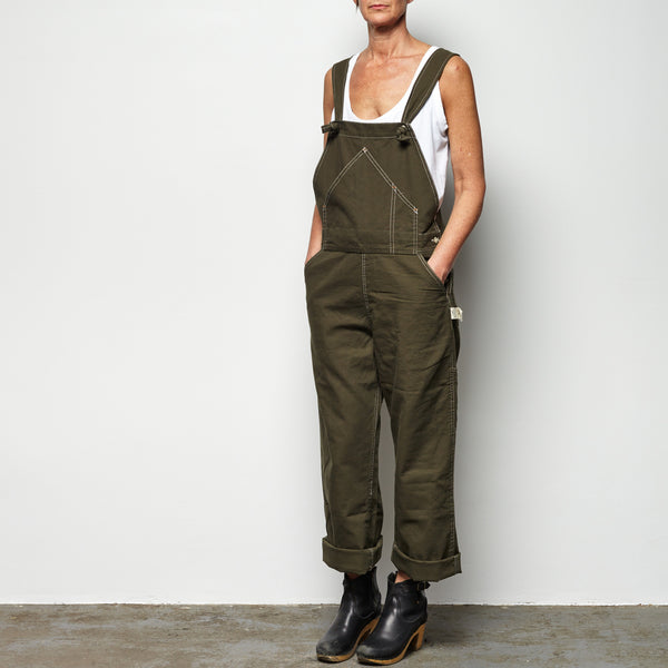 overalls - army green