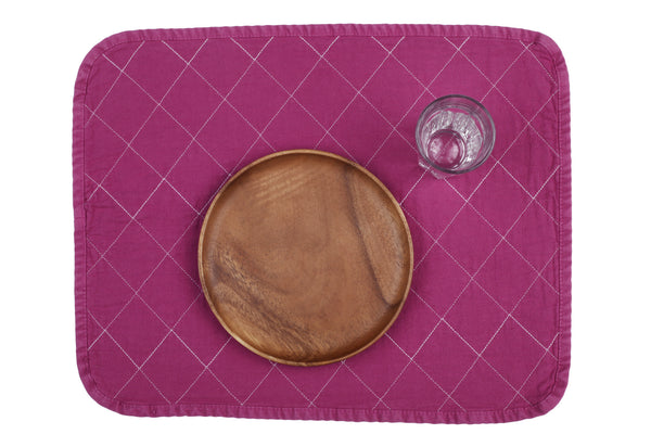 Quilted Placemat - fuchsia