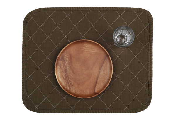 Quilted Placemat - olive