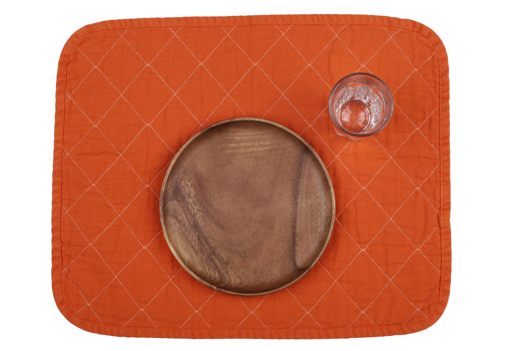Quilted Placemat - orange