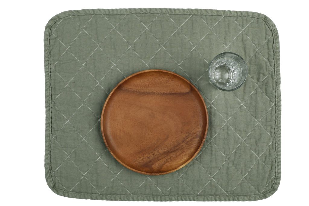 Quilted Placemat - slate