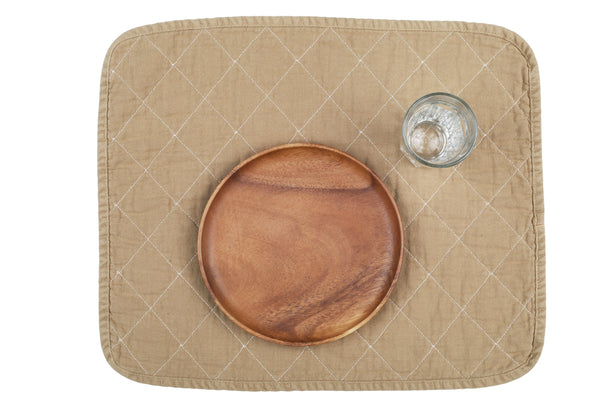 quilted placemat - tan