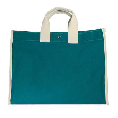 classic field bag - teal/natural