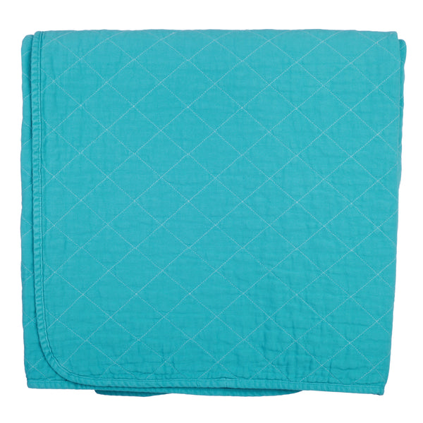 throw blanket - aqua