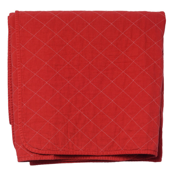 throw blanket - china red