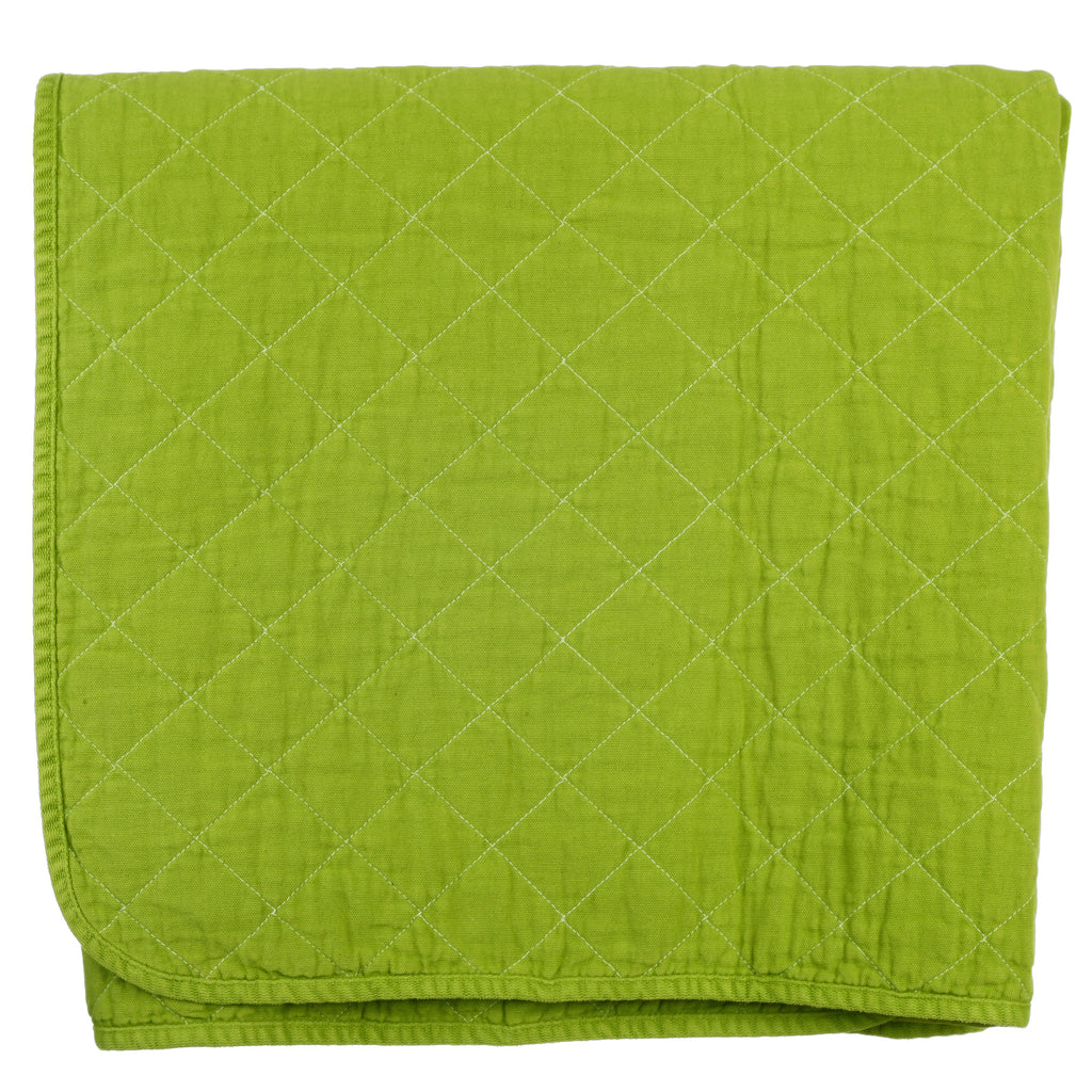 Throw Blanket - leaf green