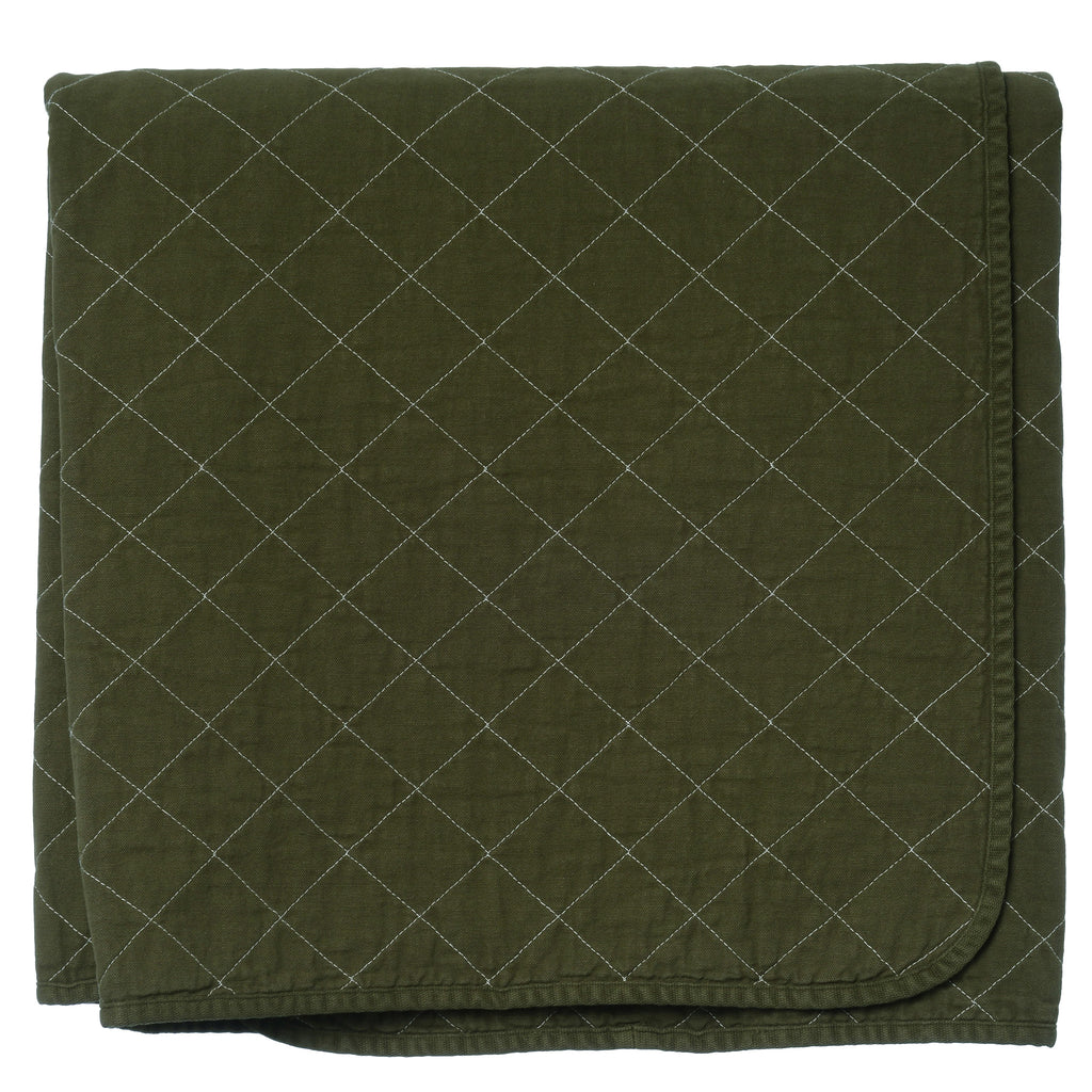 Throw Blanket Olive Utility Canvas