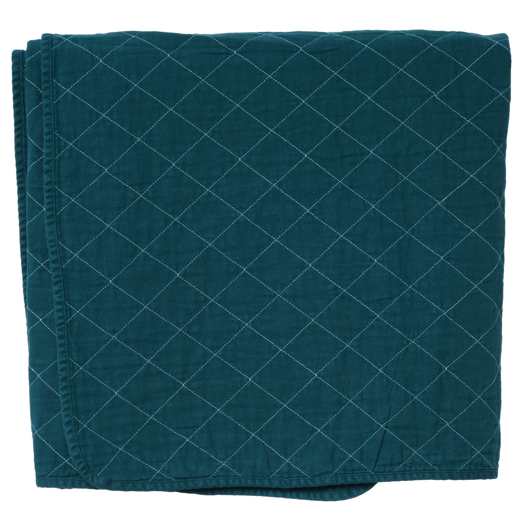 Throw Blanket Teal Utility Canvas