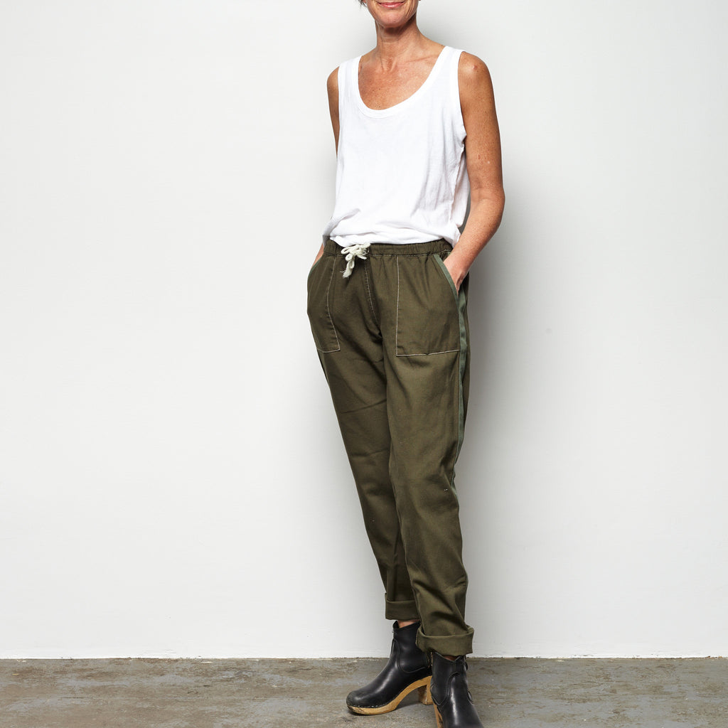track pant- olive