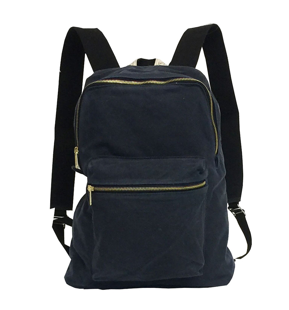 Waxed Backpack - navy